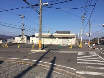 県道4車線沿い角地、コンビニ居抜物件、飲食・物販店募集