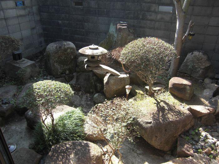 南側の坪庭